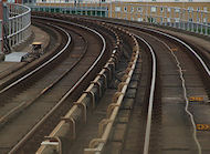 train tracks - an application of radius of curvature