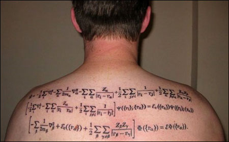 equation tattoos