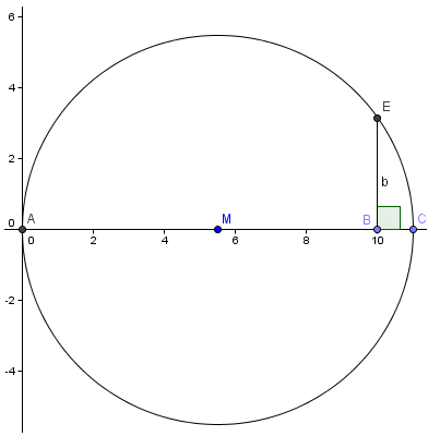 perpendicular line intersects the circle