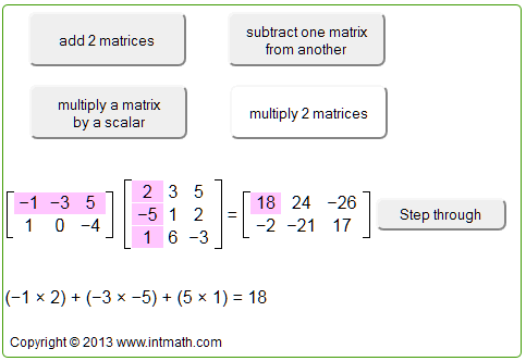 Matrices scalar multiplication
