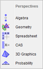 3D interface in GeoGebra