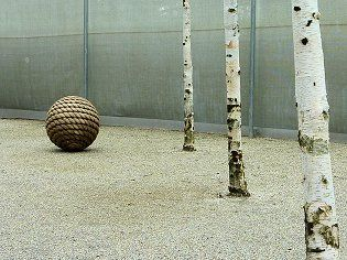 rope around sphere Zen garden