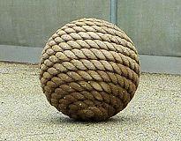rope around sphere Zen garden