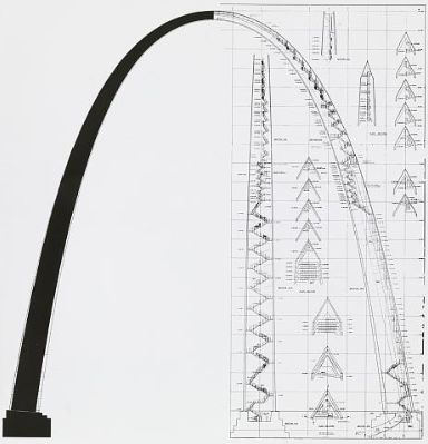 gateway arch architectural drawing