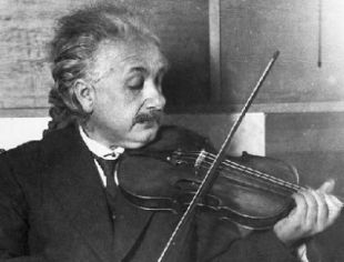 Einstein with his violin