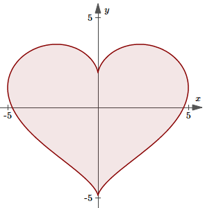 mathematical valentines heart
