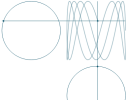 Animated Lissajous figures