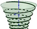 Spiral around a hyperboloid - the Effekt bridge