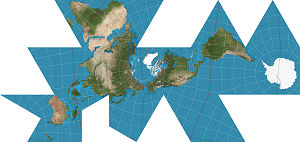 Geodesic sphere - Dymaxion map