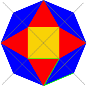 original octagon with segments
