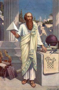 Pythagoras in the Roman Forum
