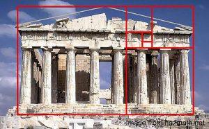 Pantheon with golden ratio